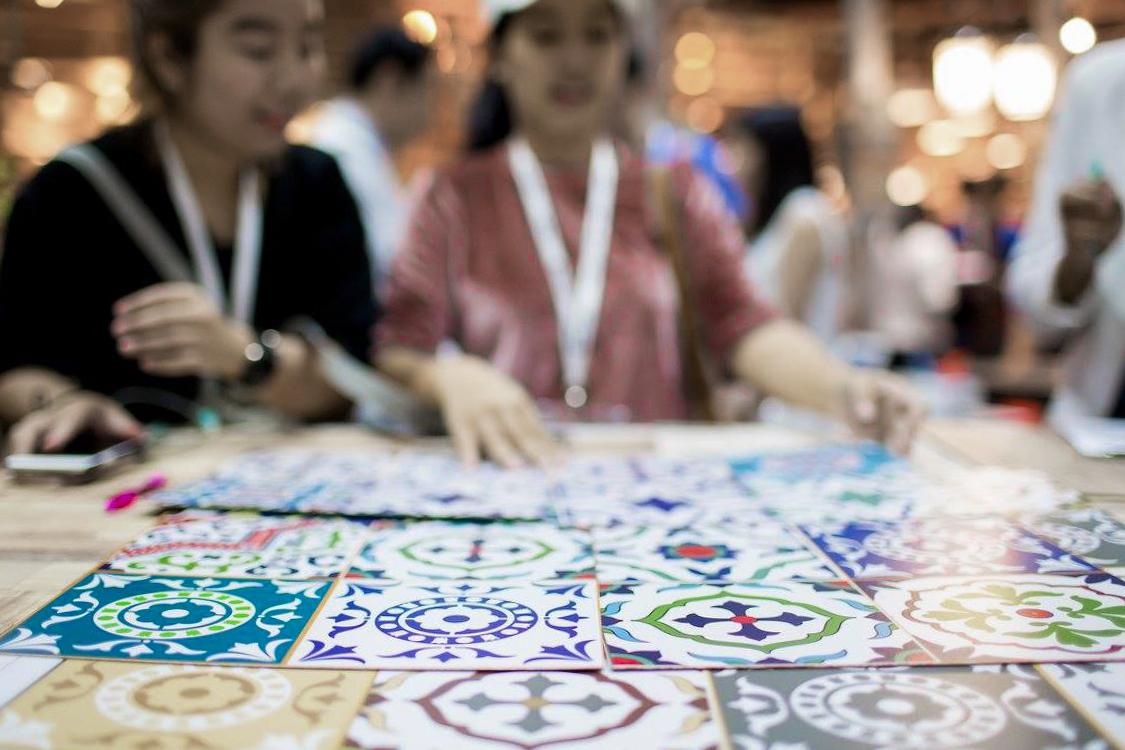 Melatone tiles design digital print laminate