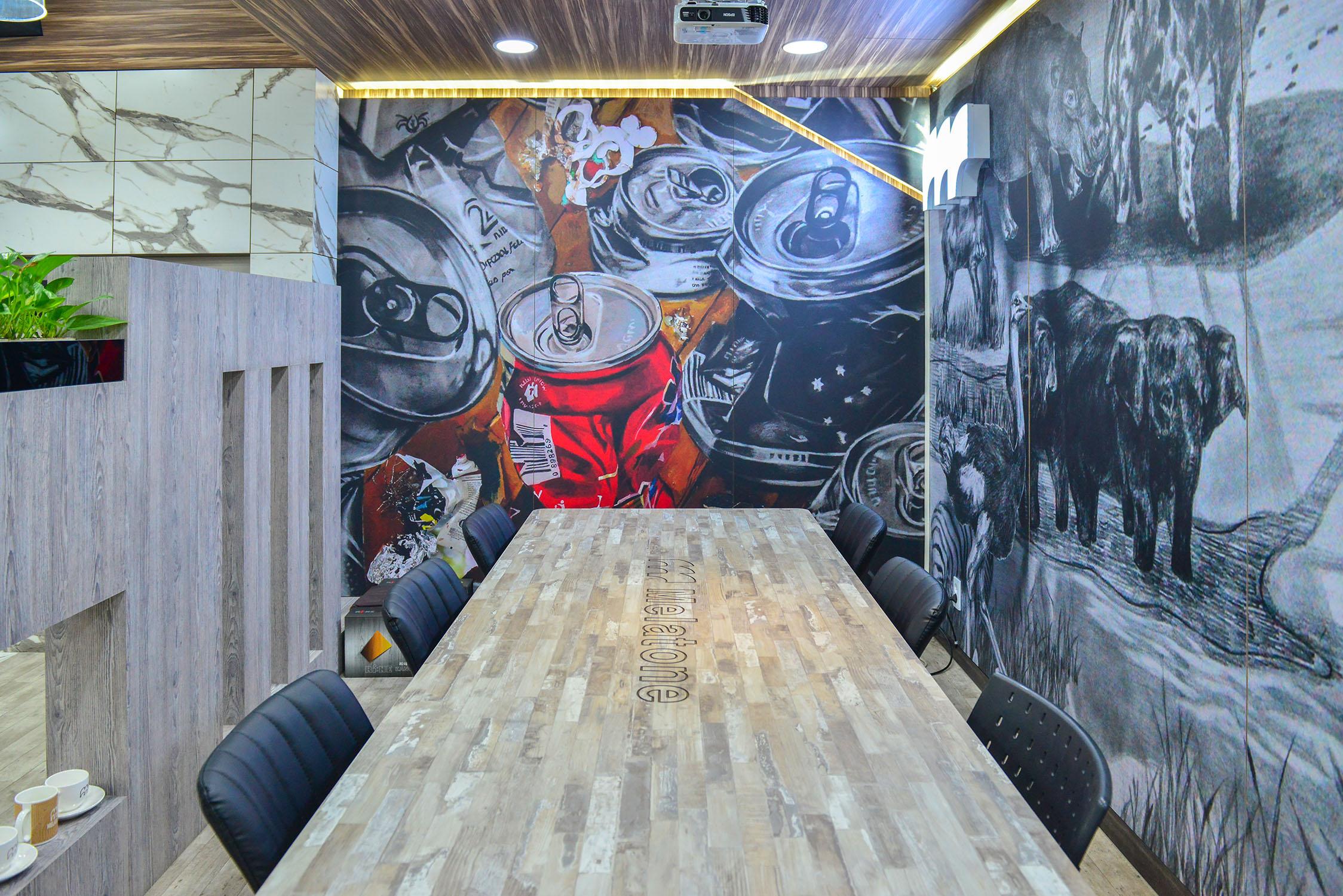 Melatone Showroom in Incheon, Digital PrintArt Laminate