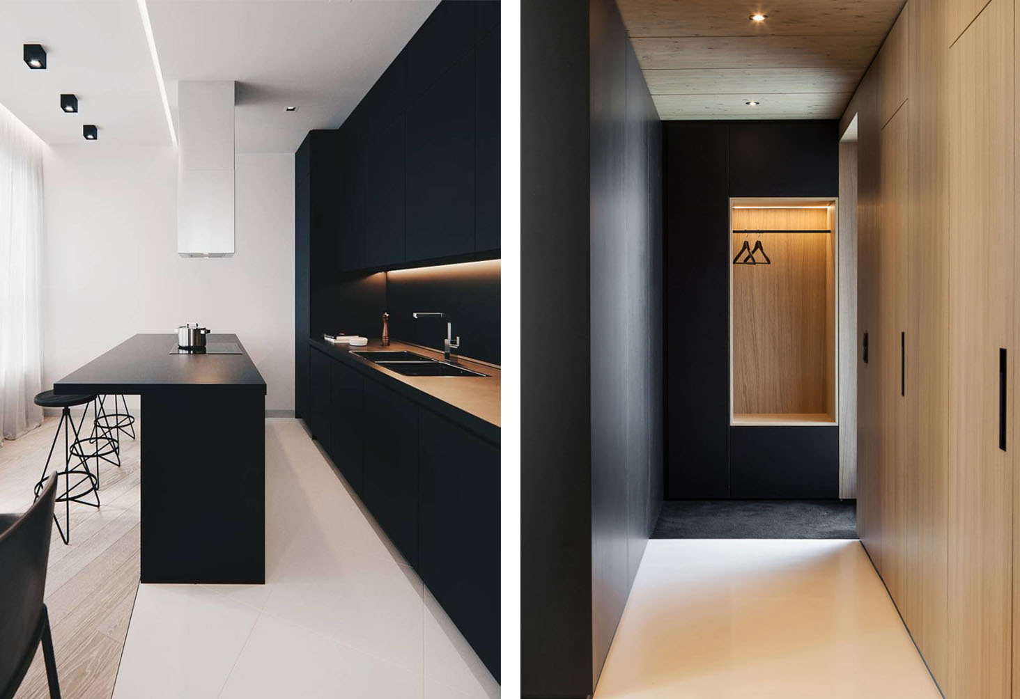 Dark Minimalist Interior