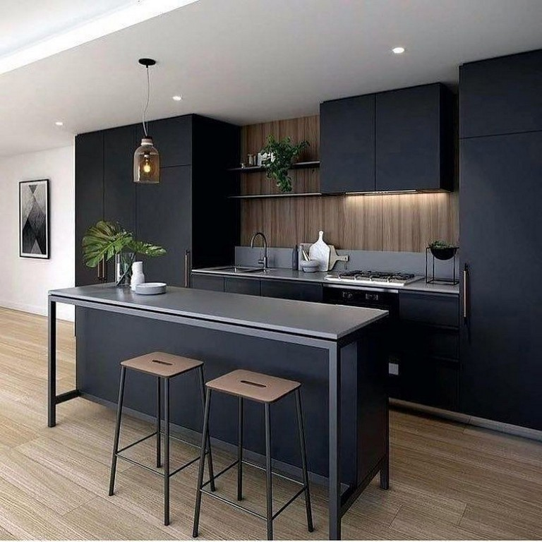 Black Minimalist Interior